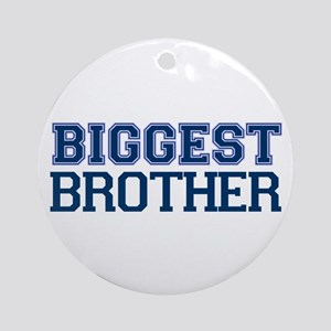 biggest brother t-shirt varsity Ornament (Round)