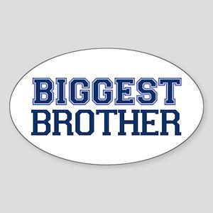 biggest brother t-shirt varsity Oval Sticker