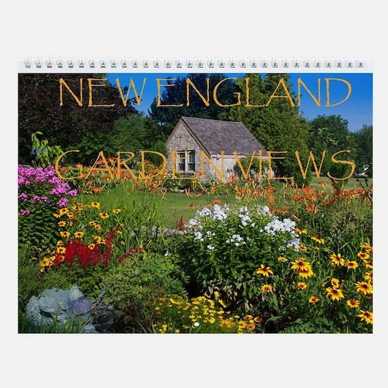 New England Garden Views Wall Calendar