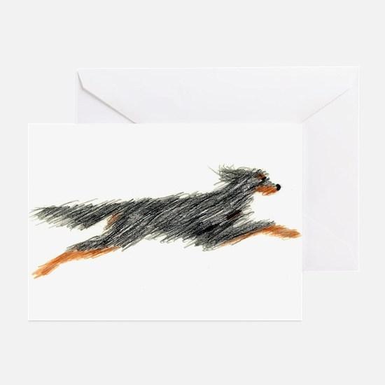 Leaping Gordon Setter Greeting Cards (Pk of 10)