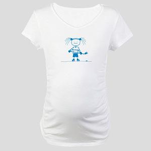 Ice Princess (blue) Maternity T-Shirt