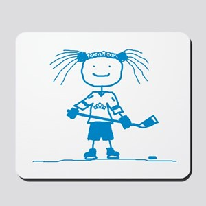 Ice Princess (blue) Mousepad