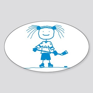 Ice Princess (blue) Oval Sticker