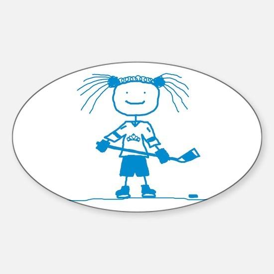 Ice Princess (blue) Oval Bumper Stickers