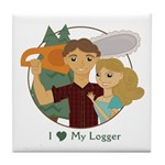 Love my logger Tile Coaster