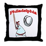 Philadelphia Baseball Throw Pillow