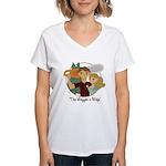 Logger's Wife Women's V-Neck T-Shirt