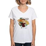 Love My Logger - Blonde Women's V-Neck T-Shirt