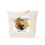 Love My Logger - Blonde Tote Bag