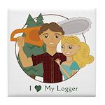Love My Logger - Blonde Tile Coaster