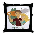 Love My Logger - Blonde Throw Pillow