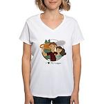Love My Logger - Brunette Women's V-Neck T-Shirt