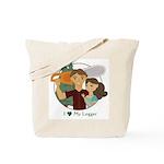 Love My Logger - Brunette Tote Bag