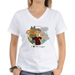Love My Logger - Silver Women's V-Neck T-Shirt