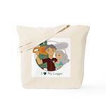 Love My Logger - Silver Tote Bag