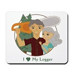 Love My Logger - Silver Mousepad