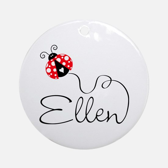 Ladybug Ellen Ornament (Round)