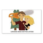Logger's Make Better Lover's Rectangle Sticker