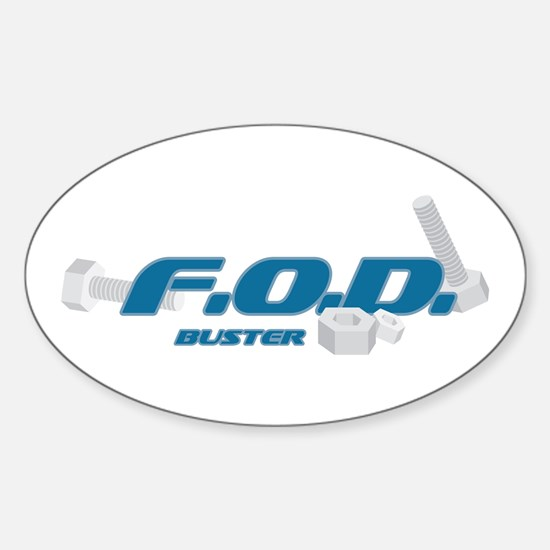 FOD Buster Oval Decal