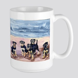 Airedale terrier puppies Large Mug