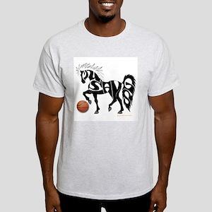 Basketball Team Mustangs (Black Design) Light T-Sh