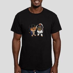 2 Pirates Men's Fitted T-Shirt (dark)