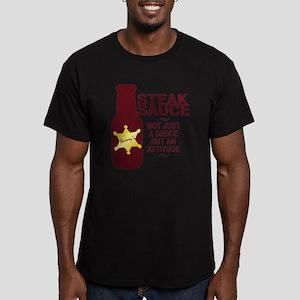 Steak Sauce Men's Fitted T-Shirt (dark)