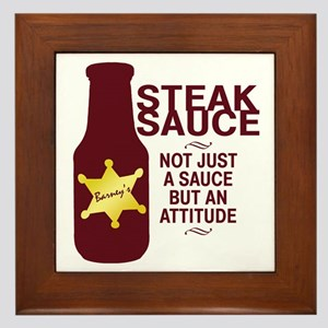 Steak Sauce Framed Tile