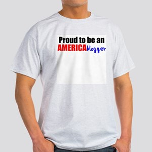 Proud to be an AMERICAblogger Ash Grey T-Shirt