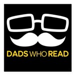 Dads Who Read logo - whi Square Car Magnet 3