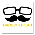 Dads Who Read Logo - bla Square Car Magnet 3