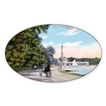 1911 Lake Harriet Boulevard Oval Sticker (10 pk)