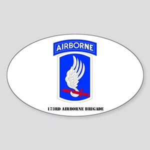 173rd Airborne Brigade Oval Sticker