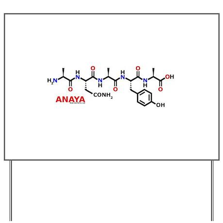 Anaya name molecule Yard Sign by anaya_mols
