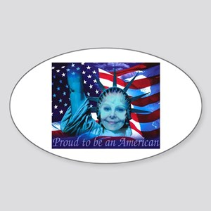 Proud to be an American Oval Sticker