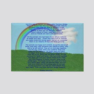 Rainbow Bridge Rectangle Magnet