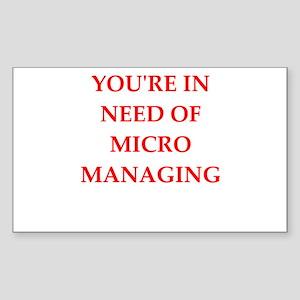 micro manage Sticker