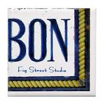 Bourbon St Mural 318 Tile Coaster