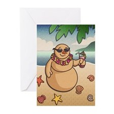 Tropical Snowman Greeting Cards (Pk of 10)