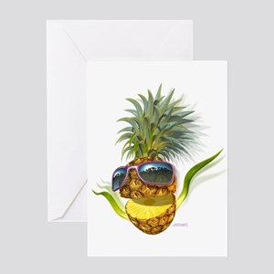 pineapple pineapples Greeting Card