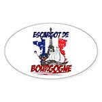 French Oval Sticker