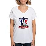 French Women's V-Neck T-Shirt
