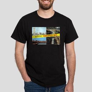 1950's Greetings From Minneapolis Dark T-Shirt