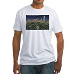 1946 Minneapolis Skyline at Night Fitted T-Shirt