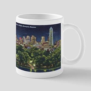 1946 Minneapolis Skyline at Night Mug