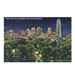 1946 Minneapolis Skyline at Night Postcards (Packa