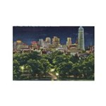 1946 Minneapolis Skyline at Night Rectangle Magnet
