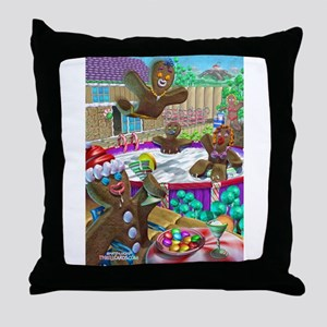 gingerbread cookies gingerbre Throw Pillow
