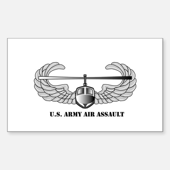 Air Assault Wings Rectangle Decal