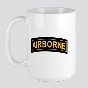 Airborne Tab Black and Gold Large Mug